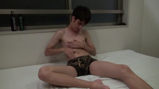 japanese twink beating off