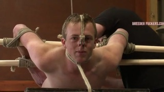 straight guy tied down, bent over and fucked