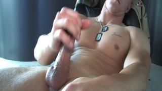 marine dane gets naked and jacks off