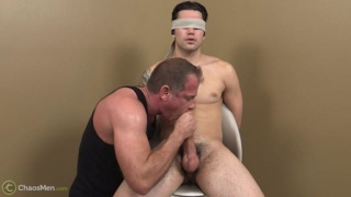 straight guy blindfolded and blown