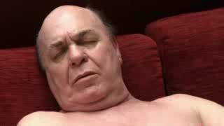 old man pleasure his dick