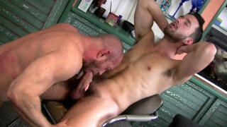 barber shop men sucking and fucking