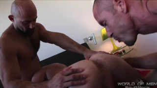 hunky lovers share a hot butt