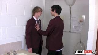 lads fucking in school toilet