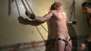 hung straight stud bound in dungeon