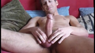 galvan strokes his very nice cock