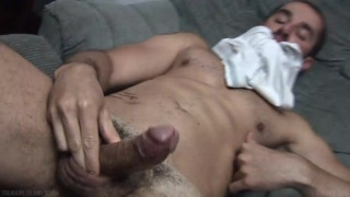 Dean Monroe jerking his 8-inch cock