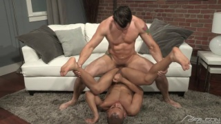 Jimmy Durano plunge fucks Rey Luis on the floor