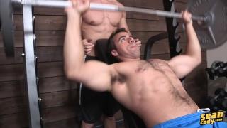 Eddie & Joey fuck around in the gym
