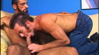 Hairy guy nails an ass