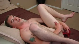 Long Black Dildo Up his Hole