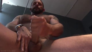 Morgan Black Jacks his Big Dick