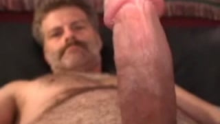 Sexy Man with Moustache Jacking Off