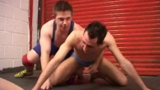 Twinks fuck raw on wrestling mats