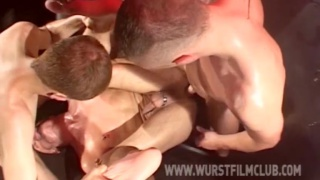 3 men fuck in smelly dungeon