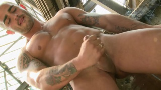 Spaniard Adrian Toledo jacking his cock