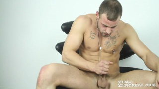 sexy french bad boy jacking off