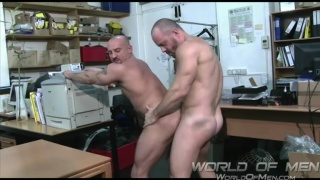 hunky men fucking at the office