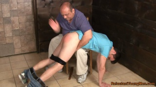 Ukranian Straight Boy Gets Spanking