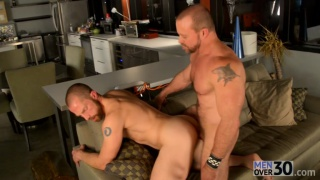 muscle hunk casey williams drills adam herst