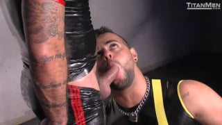 Alessio Romero and Tony Orion in soaked