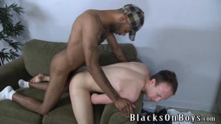 black guy getting white boy head
