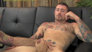 inked redneck brings his big gun to JO audition
