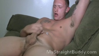 Marine Jacking his Dick Watching Porn