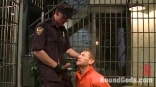Cop Alex Adam Services his Prisoner's Big Cock
