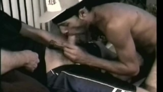 hung black straight guy gets dick serviced