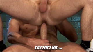 big cock for sporty boy's ass
