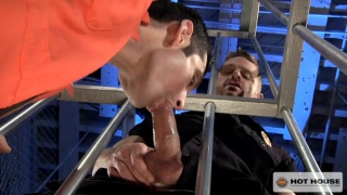 jail guards spit roast a prisoner