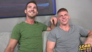 bareback sex with Hunter and Aidan