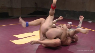 Seven Dixon loses to Mitch Vaughn in naked wrestling match