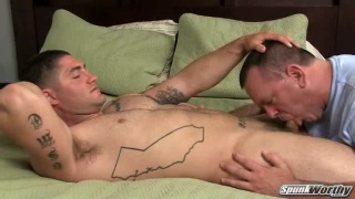 Beefy Stud Gets his Dick Sucked