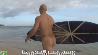 military drill instructor's beach jack off