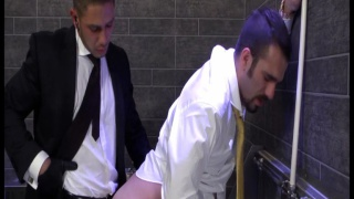 fucked by security hunk in toilet