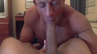 bottom impales himself on impressive cock