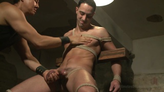 jockstrapped stud in the dungeon