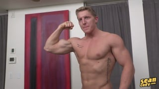blond stud nolan stroking his cock
