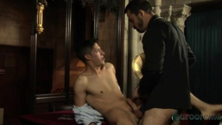choir boy and priest fuck in the deacon's office