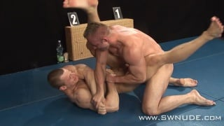 a submission wrestling match