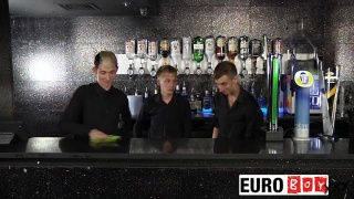3 british lads fucking in the bar