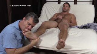 furry cub seth likes having a guy sucking on your toes