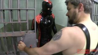 sub restrained in heavy stockades