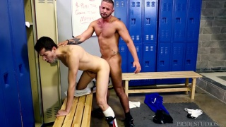 soccer players fuck in locker room after match