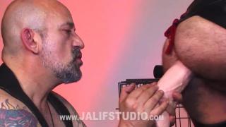 kinky spanish hunks play with dildos