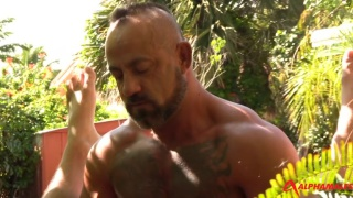 Outdoors masculine sex hookup