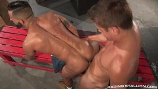 Austin Chandler & David Benjamin flip flop fucking