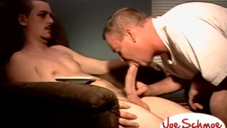 two straight guys with boners ready to suck